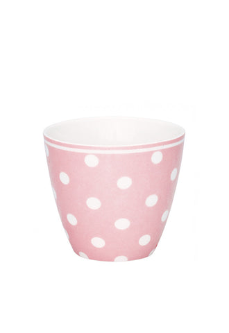Greengate Latte Cup, Pink With Polkadots