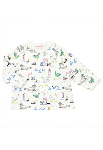 John Lewis Baby Seaside Sweatshirt