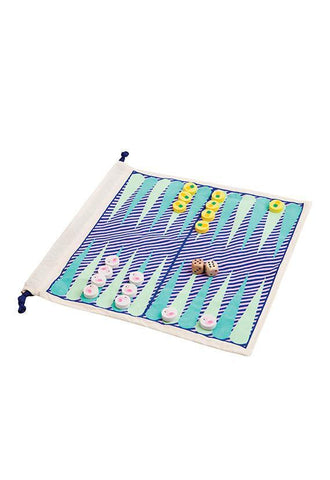 SunnyLife Travel Backgammon and Checkers Game Set