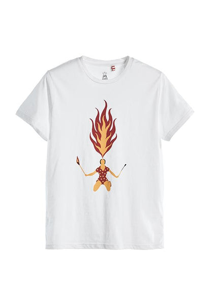 Tee Library Fire Breathing, White