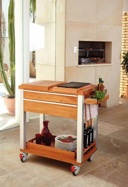 Tramontina BBQ Trolley With Hot Plate