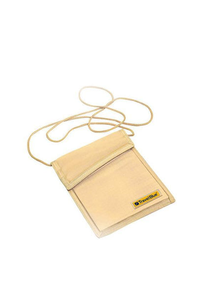 Travel Blue 125 Neck Wallet RFID, Beige