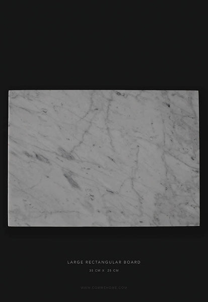 Comme Home White Rectangle Marble Board, Large