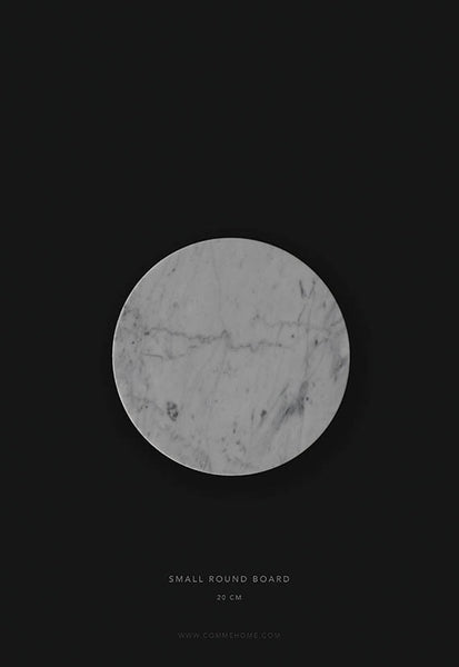 Comme Home White Round Marble Board, Small