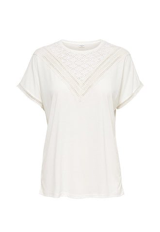 Jacqueline de Yong Lace Top, White