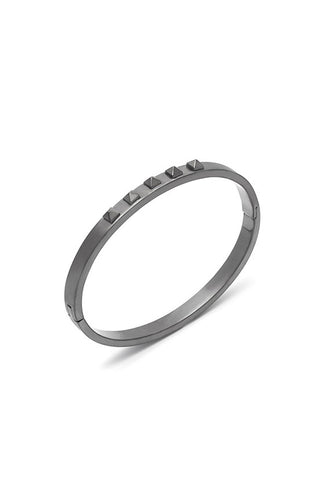 Northskull Yazd Bangle in Brushed Gunmetal