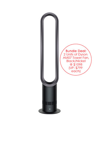 Dyson AM07 Tower Fan, Black/Nickel