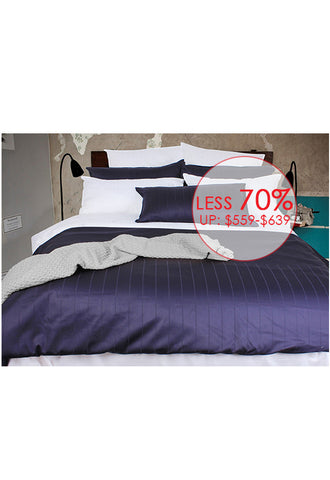 Balmain Essentiel Dobby Panel Bedset, Queen (Available in 5 Colours)