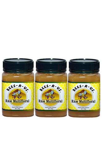 Bees-R-Us Raw Multi-Floral, 500g Triple Pack
