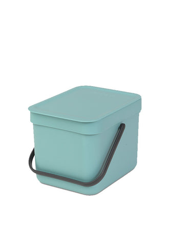 Brabantia 6L Sort & Go Waste Bin, Mint