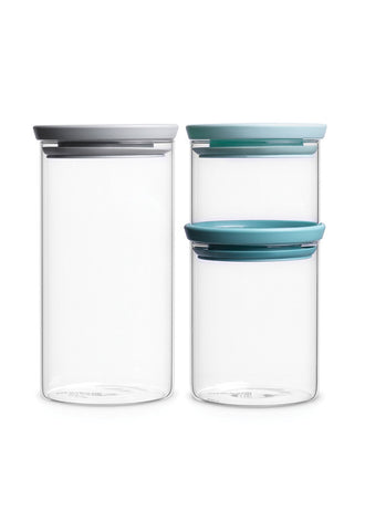 Brabantia Stackable Jars, 3PC