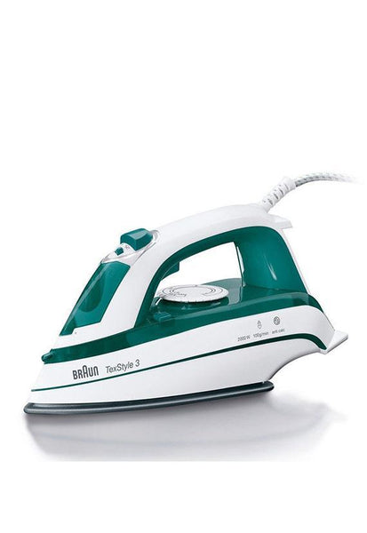 Braun Tex Style 3 Steam Iron, Green