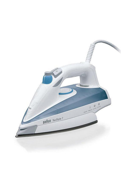 Braun Tex Style 7 Steam Iron, Blue White