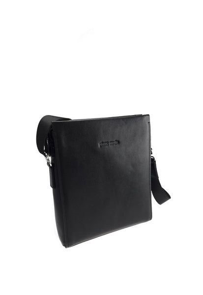 Pierre Cardin Leather Postman Bag, Black