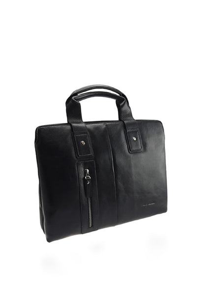 Pierre Cardin Leather Briefcase, Black