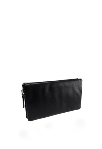 Pierre Cardin Leather Clutch Bag, Black