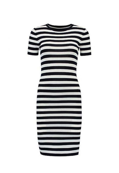 Nikkie Jolie Dreses, Black & White Stripes