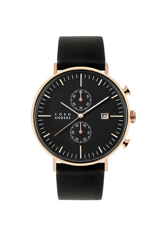 Coen Anders Kent Black/Rose Gold