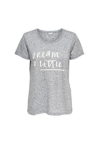 Jacqueline de Yong Dream A Little Tshirt, Black Iris