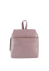Kara Pebble Leather Small Backpack, Mauve