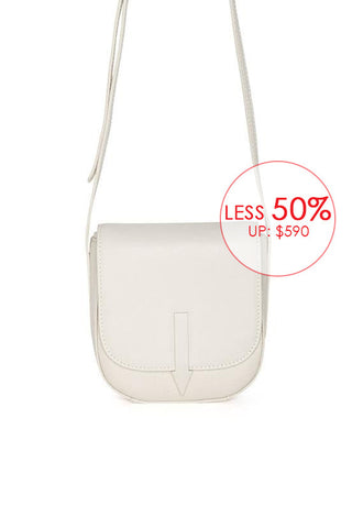 Karen Walker Bonnie Mini Saddle Crossbody, Putty