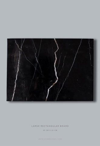 Comme Home Black Rectangle Marble Board, Large