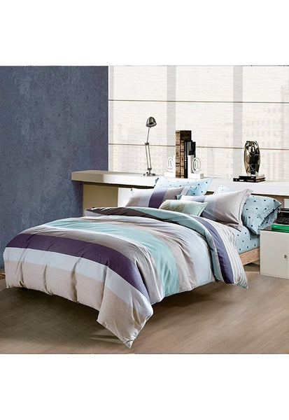King Koil 100% Cotton Sateen Printed Bedset, Queen (Available in 4 Designs)