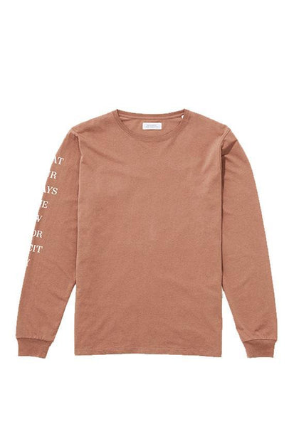 Saturdays Stencil Long Sleeve T€'Shirt Copper