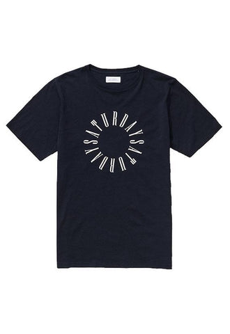 Saturdays Condensed Circle T€'Shirt Midnight