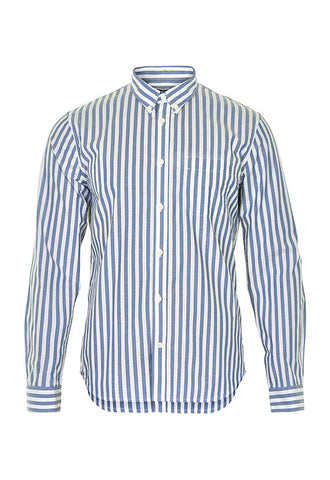 Matinique Trostol Stripe Shirt, White/Blue