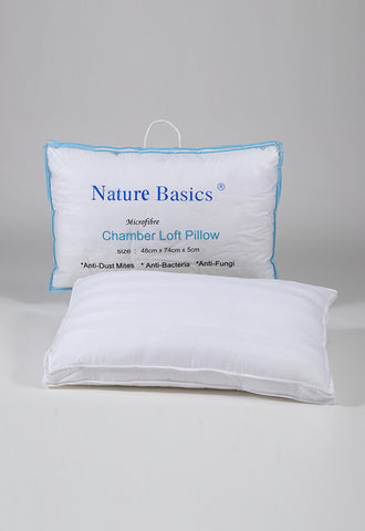 Nature Basics Antidustmite Chamber Loft Microfibre Pillow, Extra Firm