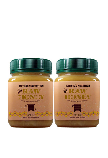 Nature's Nutrition Raw Honey, 1kg Twin Pack