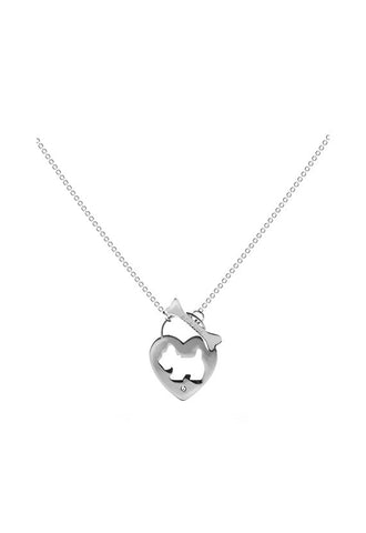 Agatha Heart Shaped Padlock Necklace