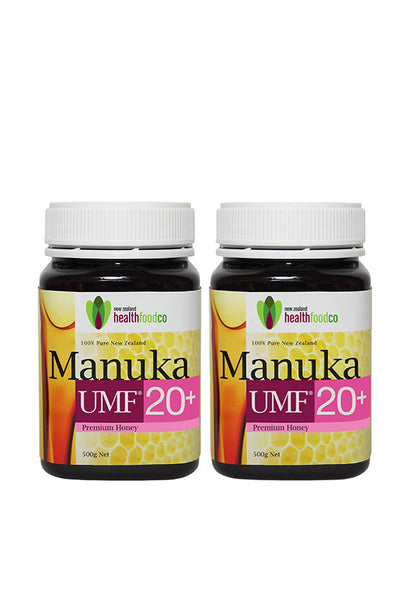 NZ Health Food™ Manuka UMF 20+, 500g Twin Pack