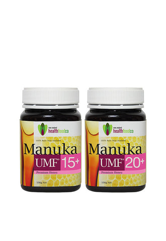 NZ Health Food™ Manuka Honey UMF15+ 500g + UMF20+ 500g
