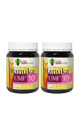 NZ Health Food™ Manuka Honey UMF10+ 1kg Twin Pack