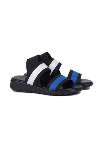 Rapisardi Lorella Sandals, Blue & White