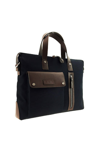 Renoma Nylon/Leather Briefcase, Ocean