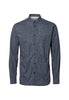 Selected Homme Twopaper Shirt, Ombre Blue With Prints