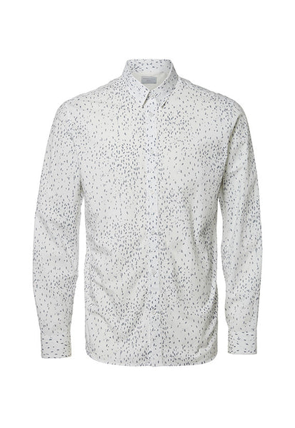 Selected Homme Twopaper Shirt, White With Prints