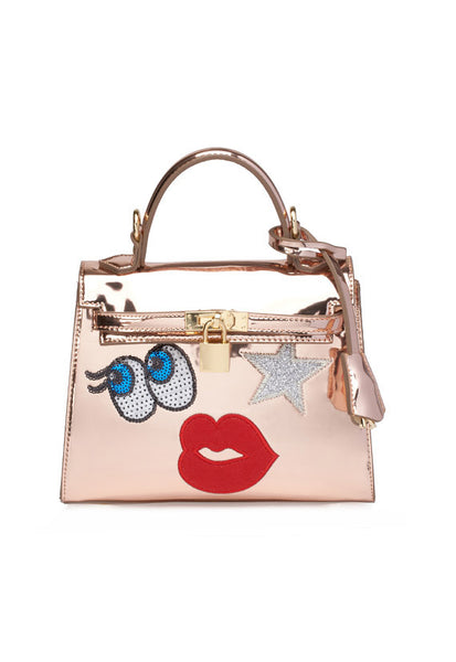 PLAYNOMORE I Am Your Shystar Handbag, Rose Gold
