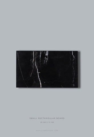 Comme Home Black Rectangle Marble Board, Small