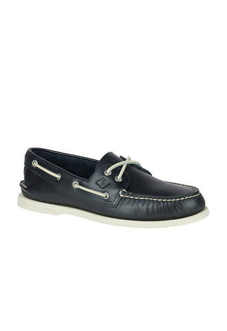 Sperry Authentic Original Waterloo Boat Shoe, Blue