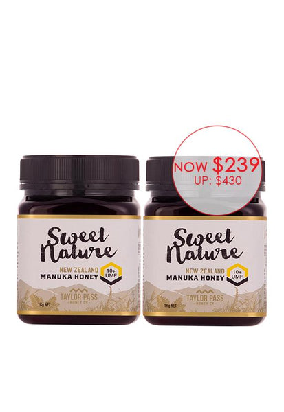 Sweet Nature Manuka UMF10+, 1kg Twin Pack