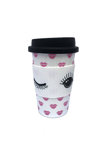 Miss Etoile Ceramic Travel Mug, Lips