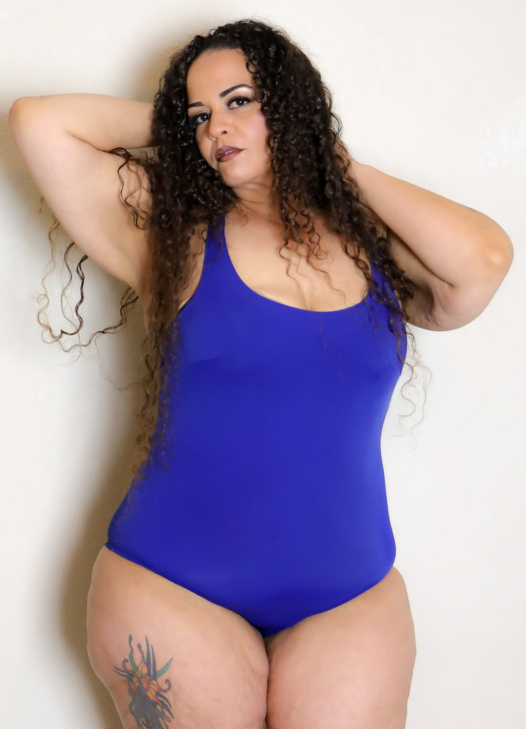 Blue Dream one piece scoop neck swimsuit