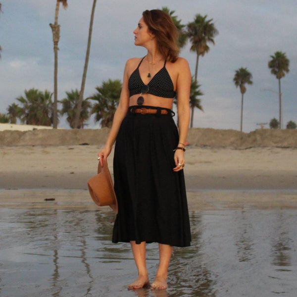 Lynt The Ultimate Maxi Skirt in Black