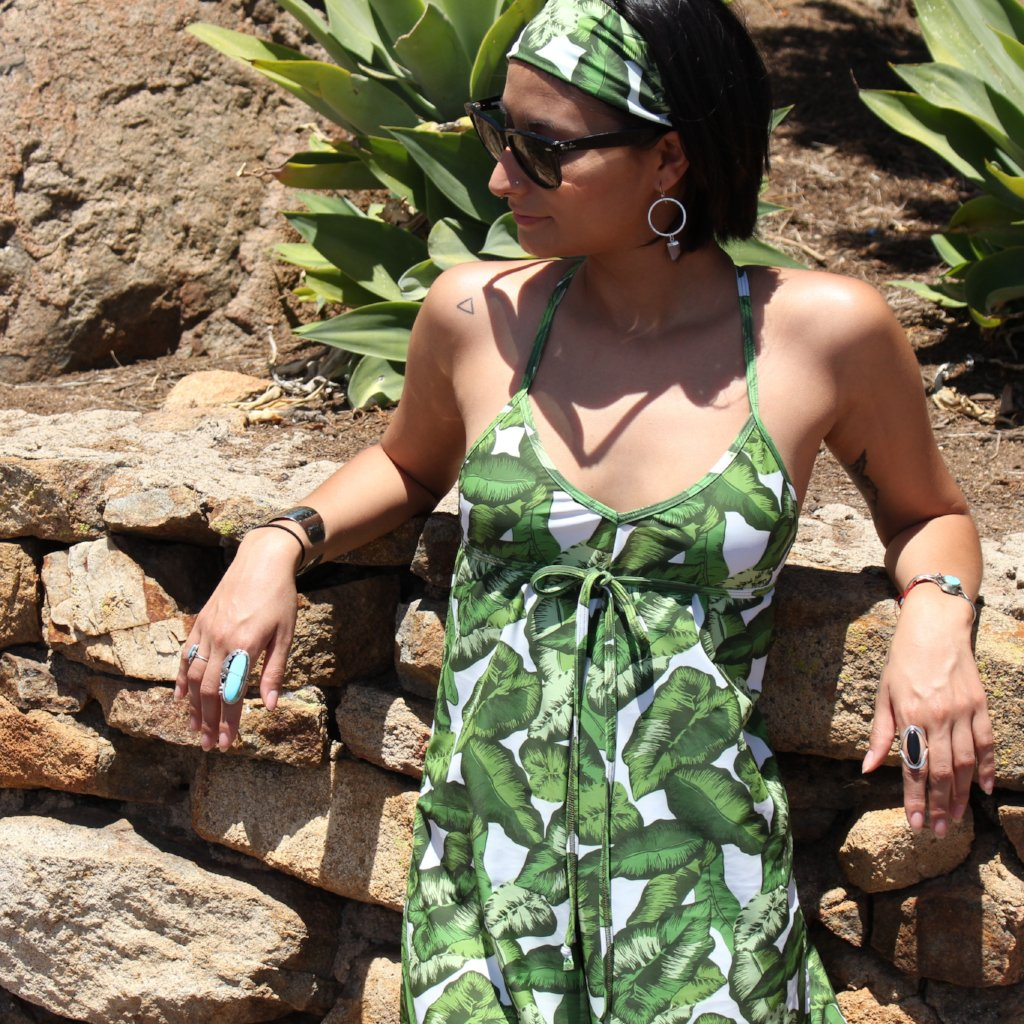 A-line Ready Romper in Banana Leaf