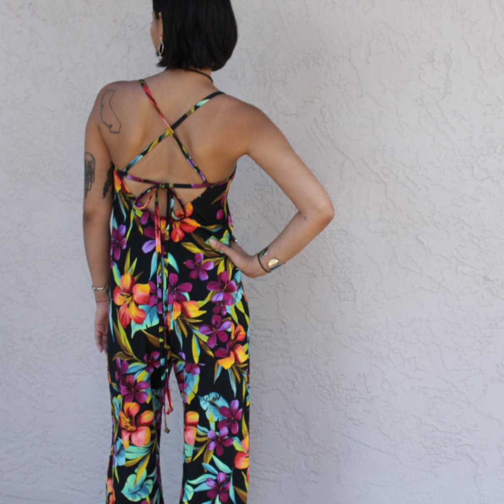 Lynt Jetset Jumpsuit in Black Hawaiian