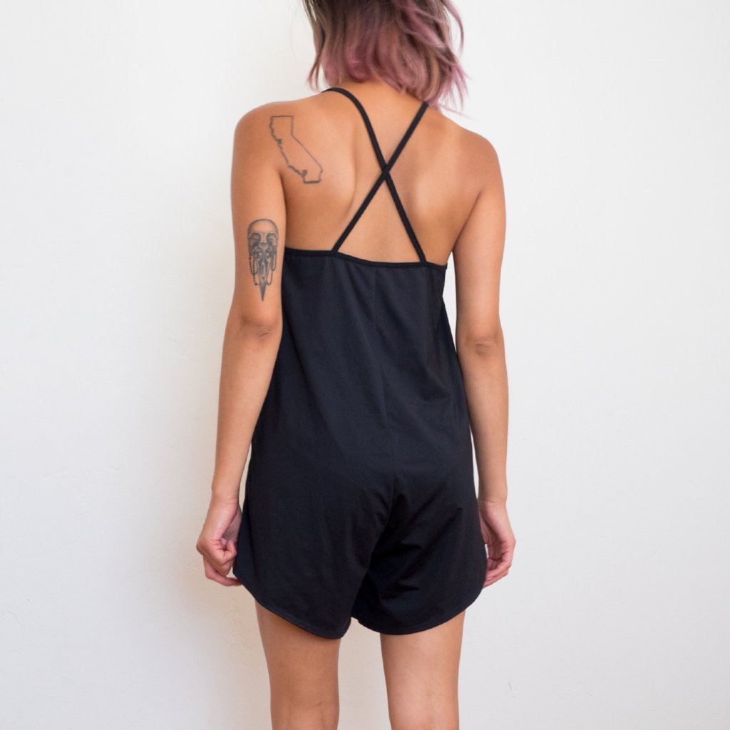 A-line Ready Romper in Black